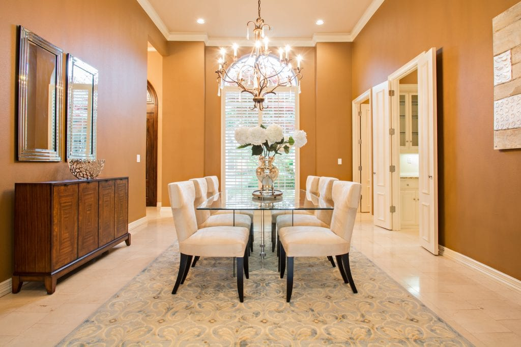 Dining room luxury home staging