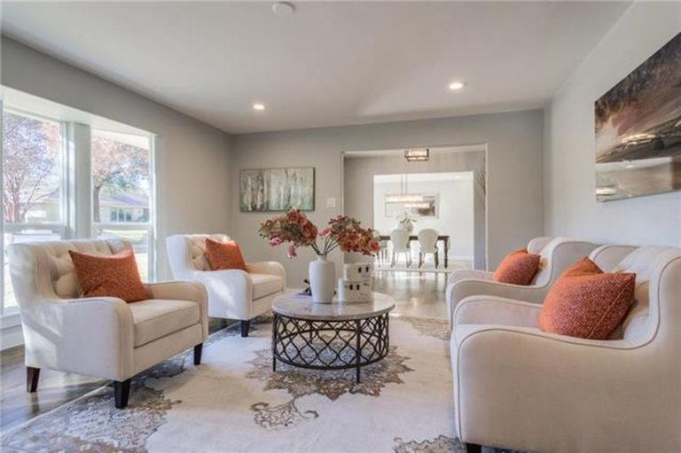 design by keti vacant home staging living room dallas tx