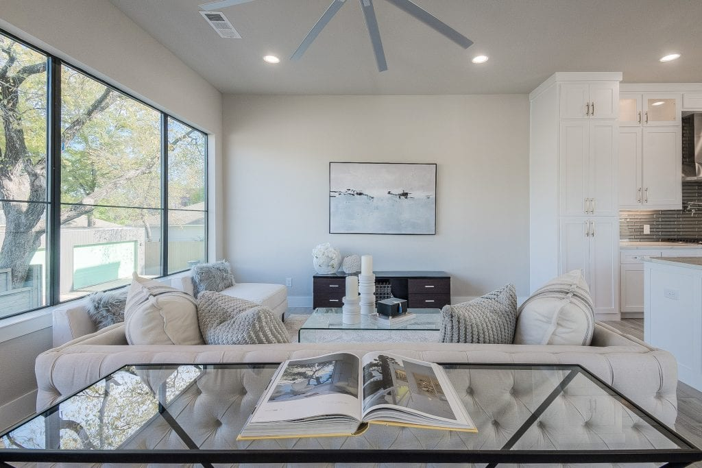 Dallas living room staging