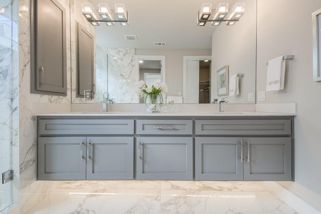 Master Bathroom Staging Design
