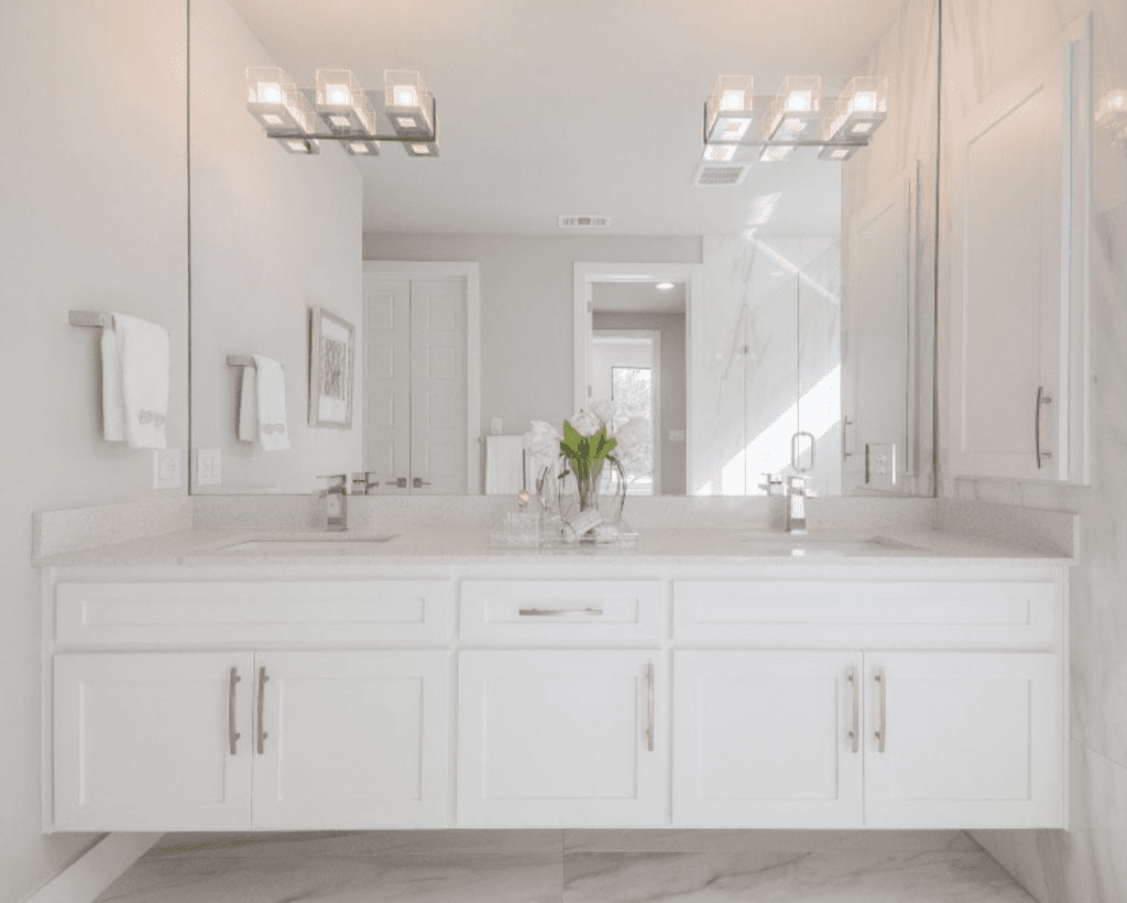 bathroom remodel design by keti dallas modern classic white exciting lighting stone flooring marble veins