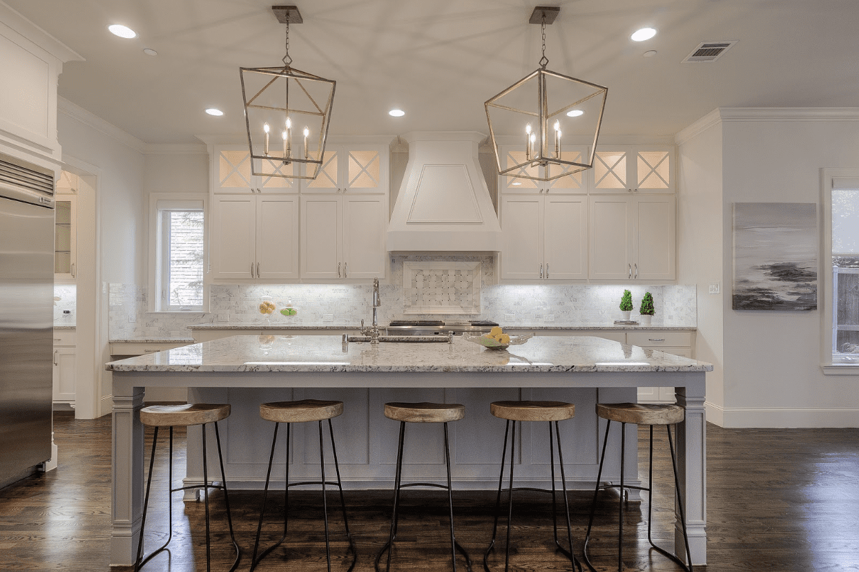 design by keti dallas kitchen renovation classic traditional modern lighting chandelier pendants bar stools dallas