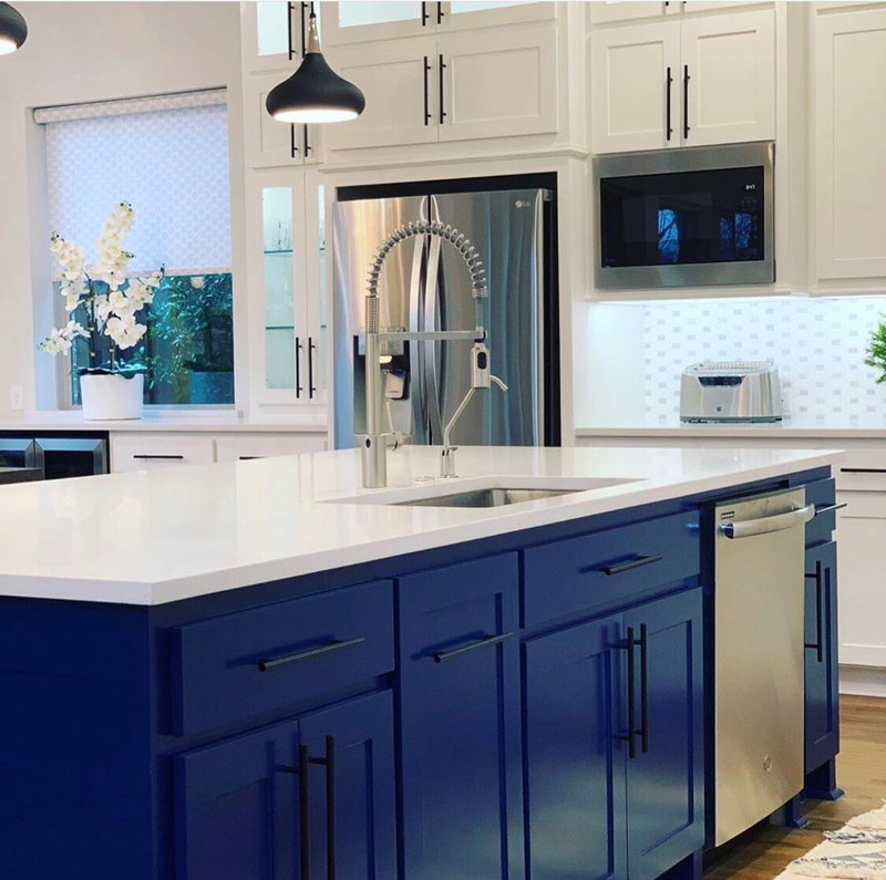 design by keti home kitchen spacious blue cabinets fresh elegant