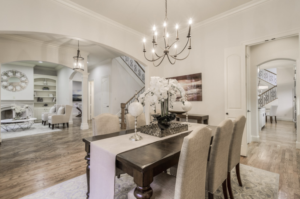 design by keti home staging dining room luxurious livable  updated west highland park tx