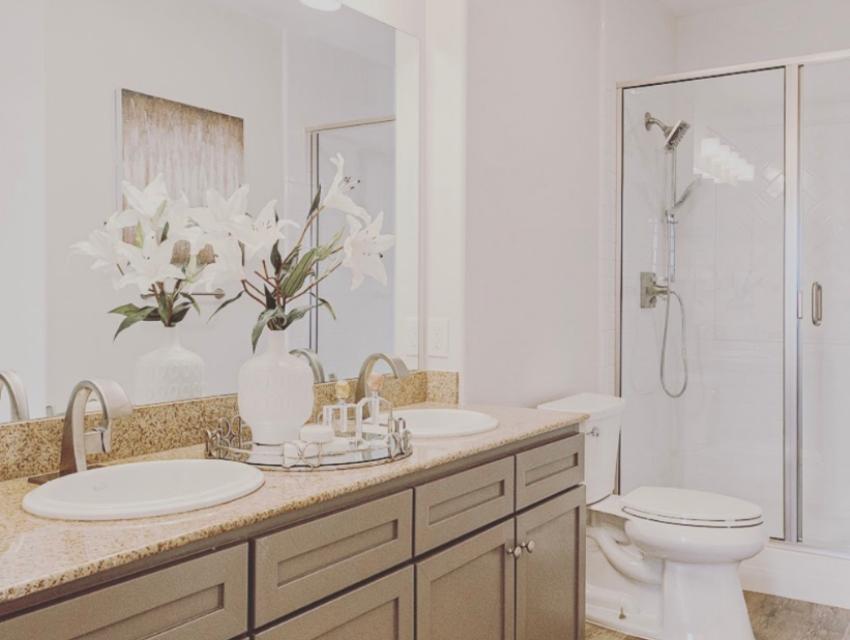dallas bathroom after renovations property listing real estate market budget-friendly bathroom makeover