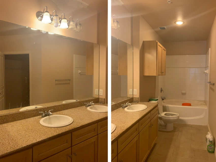 dallas bathroom before home staging revive dead listing ideas budget-friendly bathroom