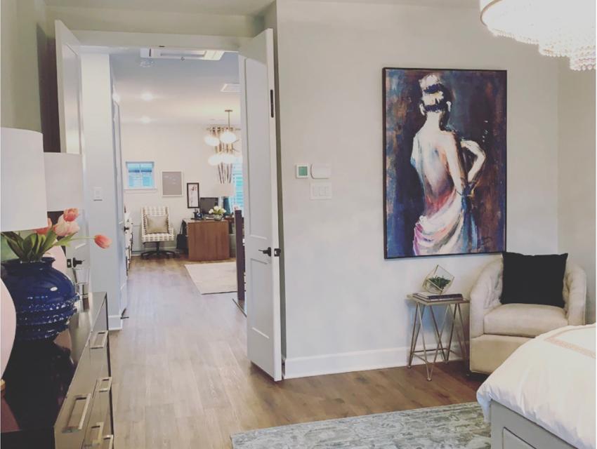 design by keti master bedroom design chandelier large art wood floors