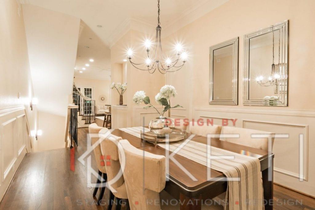 Dining room renovation dallas tx best home stagers for Dining room renovation